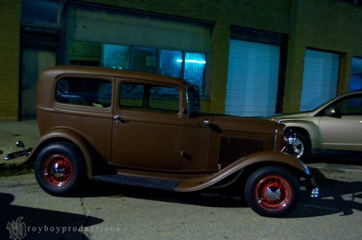 A clean 32 Sedan sitting outside