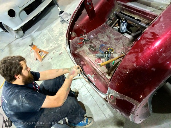A new roll pan for the 40 Chevy Convertible