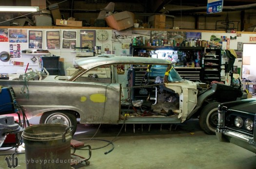 1957 Ford under construction. The car was Jeff