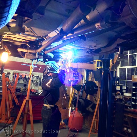 Welding in the new crossmember.