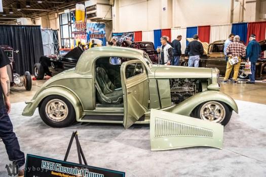 1935; 2017; 3 Window Coupe; CA; California; Chevy; David Thomas; GNRS; Grand National Roadster Show; Pomona; chevrolet 1935 Chevrolet 3 Window Coupe owned by David Thomas