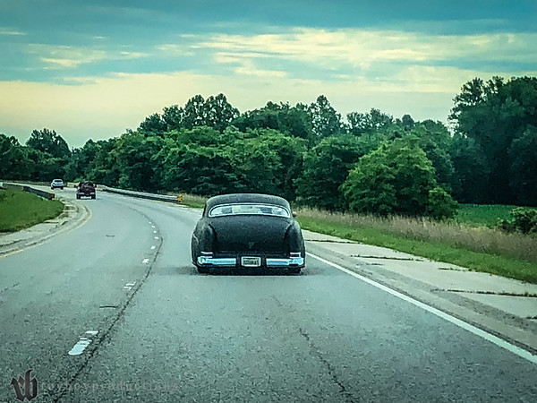 Following Stray Kat Kustoms Mickey and TwoTallOkie (Travis Miller) to Indy