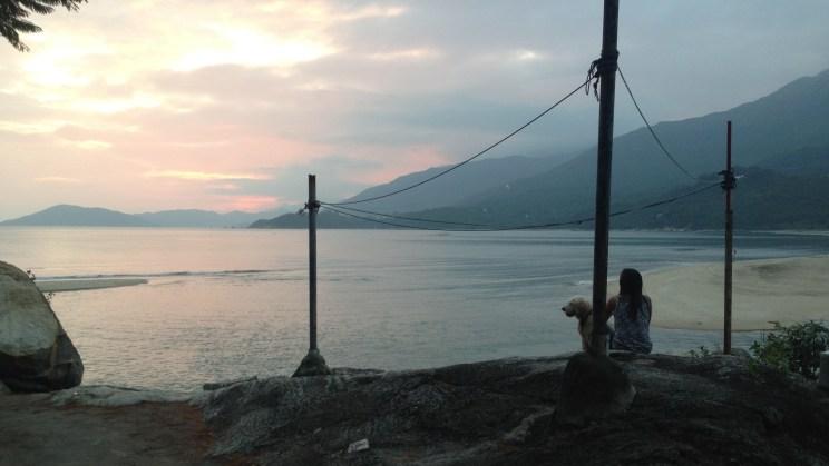 Sunset at Pui O Beach, Stage 12, Lantau Trail