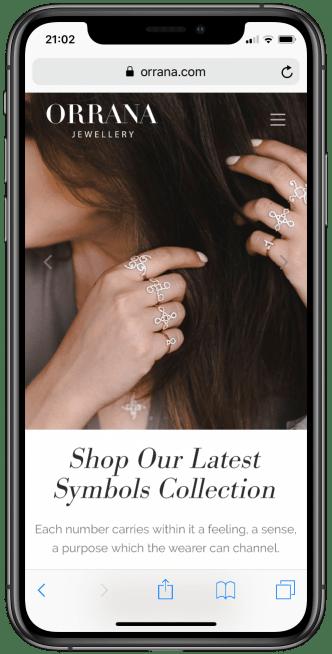 האתר Orrana ב-iPhone