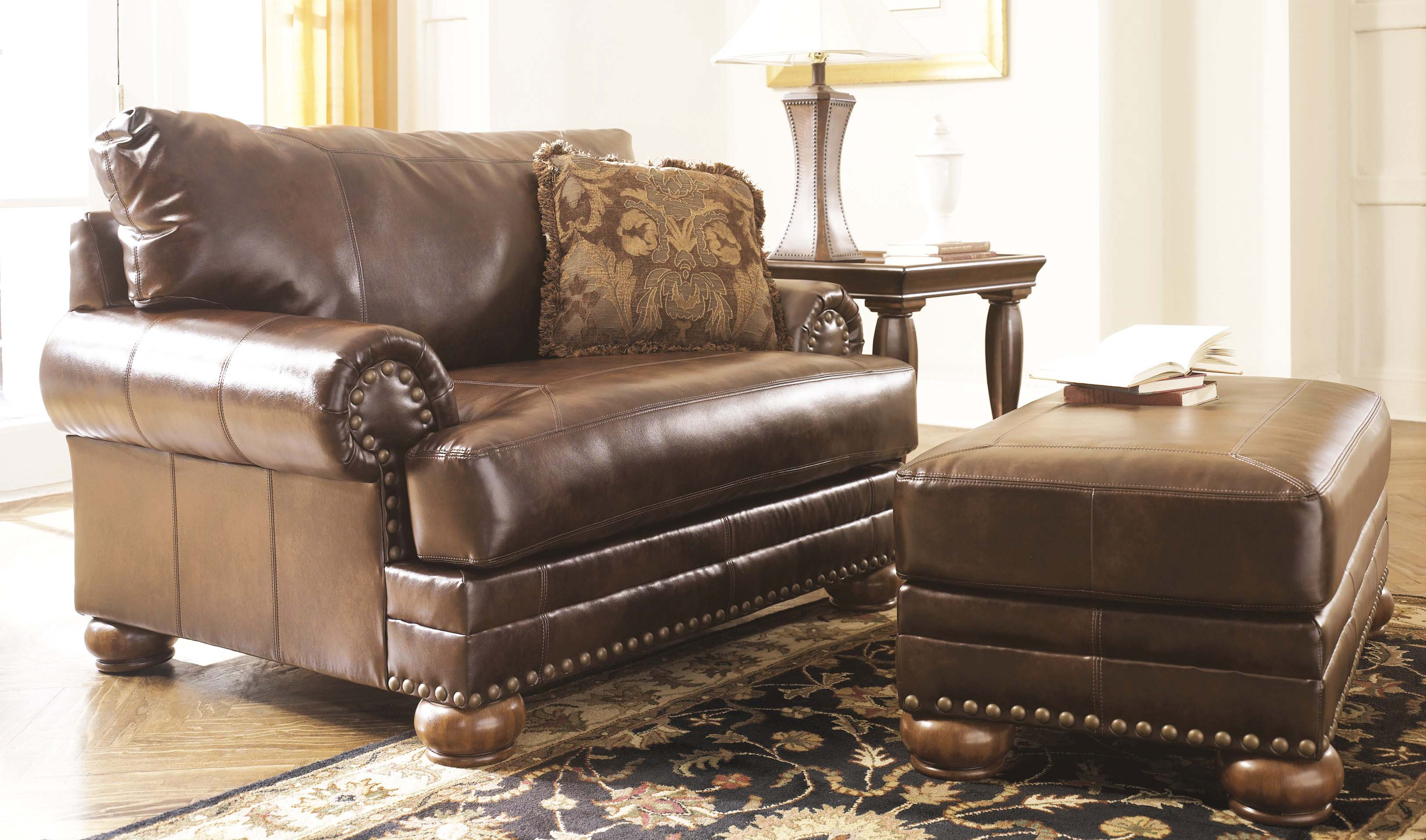 Leather Living Room Chair How To Decorate Living Room With Leather Chair Ottoman