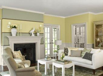 living room paint colors wall inspiration yellow modern decorate decoration schemes rooms pale decor designs trends interior dari disimpan