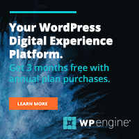 WPEngine WordPress web hosting