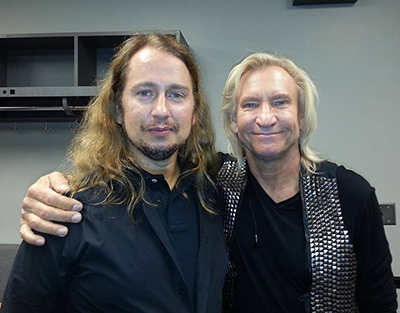 Roy Orbison Jr with Joe Walsh, from The Eagles