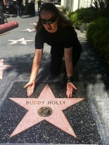 Roy Orbison Jr by Buddy Holly's star in Hollywood California