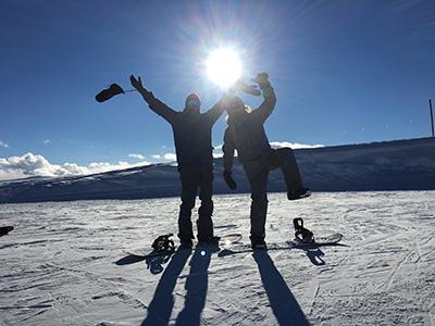 Alex and Roy Orbison Jr in Aspen Colorado