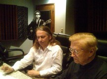 Harold Bradley (guitarist on all the Monument and MGM period Roy Orbison songs) and Roy Jr remastering some Orbison releases.