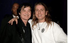 Jimmy Page and Roy Orbison Jr