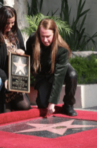 Barbara and Roy Orbison Jr at Roy Orbison Induction at Hollywood Walk of Fame