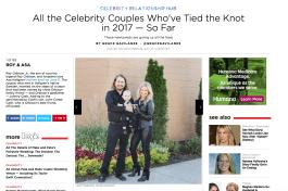 Roy Orbison Jr's Wedding - #1 Celebrity Wedding of The Year at People Magazine