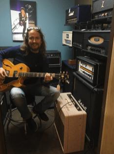 Roy Orbison Jr playing guitar