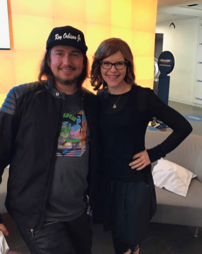 Roy Orbison Jr and Lisa Loeb at SiriusXM Radio in NewYork !