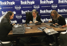 Signing books at Book People in Austin getting ready for tonights induction of Roy Orbison at Austin City Limit Hall of Fame! !