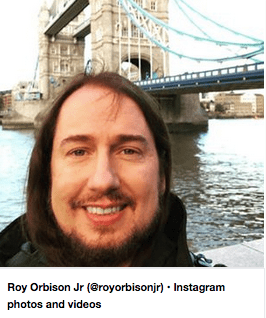 Roy Orbison Jr at Tower Bridge, London, United Kingdom