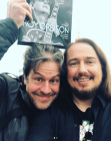 Spent my morning in #Stockholm #Sweden with this great man - Jörgen from #rocknrollmagazine #Sweden ! Keep an eye out for an article about #RoyOrbison and all our projects coming up soon! #authorizedroyorbison