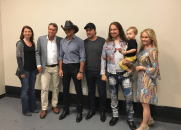 Meeting with Tim McGraw and our newest songwriter at Still Working Music Group , Lance Miller.