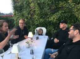 Dinner in Stockholm Sweden with my family & Joe Walsh of The Eagles and Ulf Ekberg of Ace of Base!