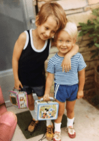 Some things never change... An early pic of me & my brother Alex! I'm on the left with the purple Yogi Bear lunchbox. He is on right with the blue Mickey Mouse lunchbox. Our Mom, Barbara Orbison took this pic. One of her favorite.