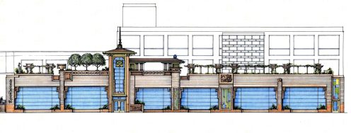 Rookwood Pottery Concept Elevation