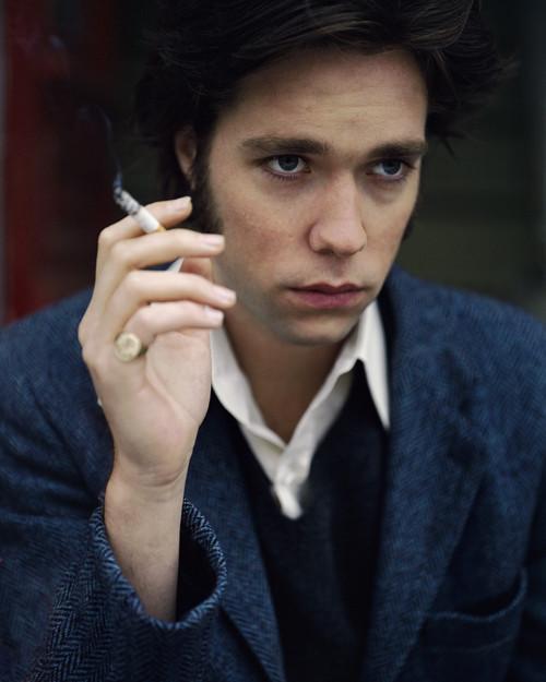 ca. 1999 --- Musician Rufus Wainwright Smoking Cigarette --- Image by © Noe DeWitt/CORBIS OUTLINE