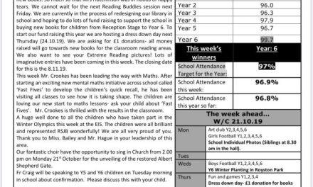 Newsletter Friday 18th October