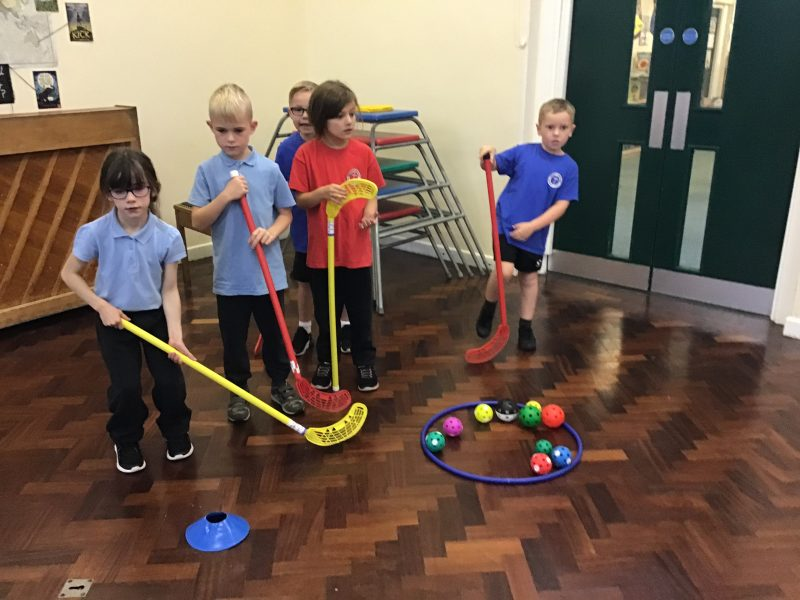 We have been practising our ball control skills in hockey this half-term.
