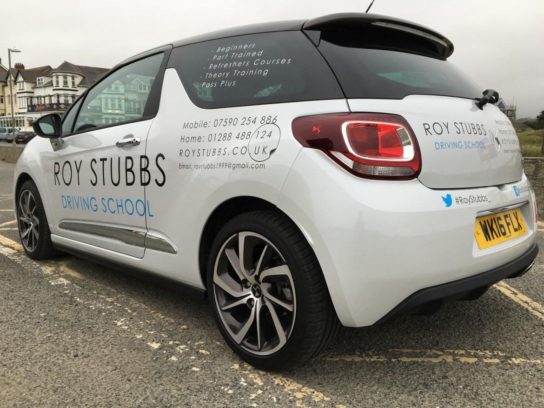 Roy Stubbs Driving School - Car Rear Side