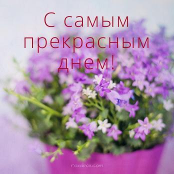 колокольчики на открытке для женщины