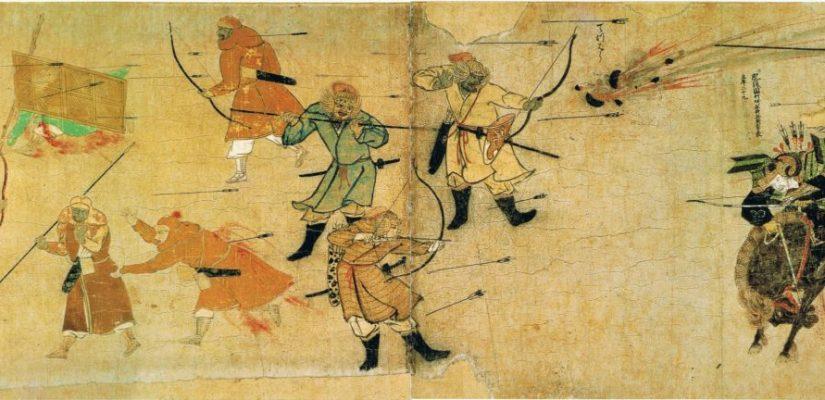 Samuraj w obliczu mongolskich strzał i bomb. Moko Shurai Ekotoba