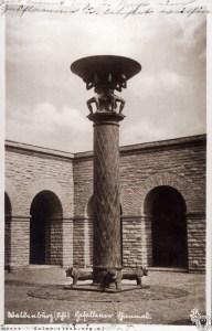 Wieczny ogień w mauzoleum w Wałbrzychu