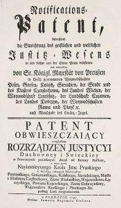 Obwieszczenie o II zaborze pruskim, 1793 rok