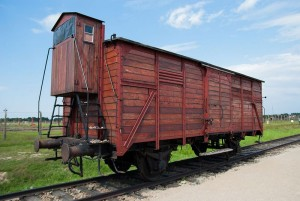 To między innymi takimi wagonami transportowano ofiary Holokaustu