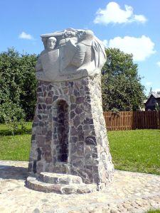 Pomnik w miejscu bitwy
