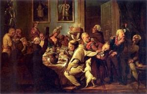 Niezależnie od tego, czy trwał post, czy nie, magnat musiał się najeść. XVIII-wieczna uczta na dworze Radziwiłłów