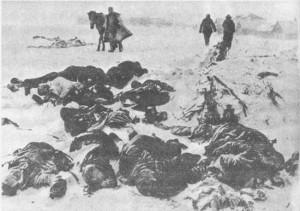 Pod Stalingradem mróz największe żniwo zbierał wśród żołnierzy walczących w stepie