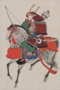 Samuraj konno, około 1875