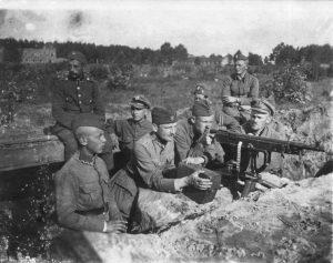 Polskie pozycje obronne pod Miłosną, sierpień 1920