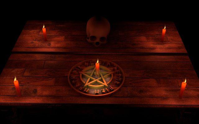 Pentagram wykorzystywany w okultyzmie