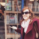 Looking rather windswept in Manchester in front of Travelling Man's window!