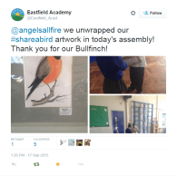 My 'Share a Bird' project landed at Eastfield Academy!