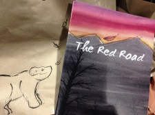 The Red Road second edition, plus doodled on bags!