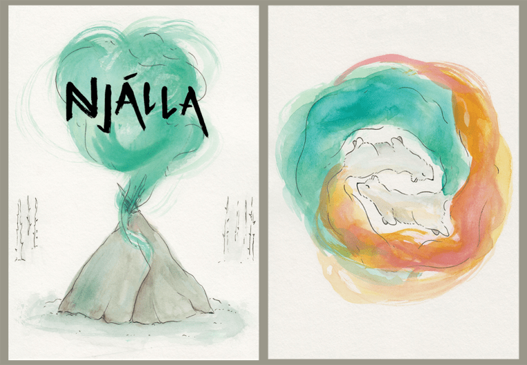 Left: Bookplate / Right: A5 Print