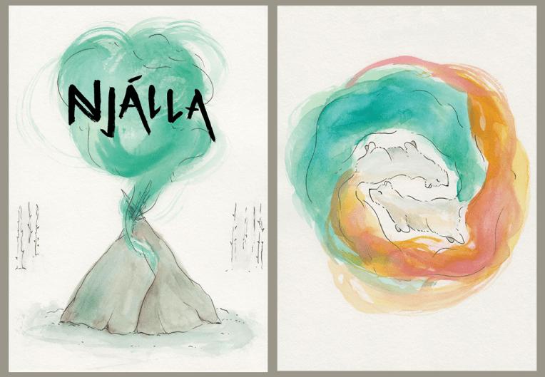 Left: Bookplate / Right: A5 Print