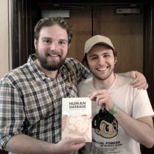 Good Comics' Sam Williams with creator Josh Hicks