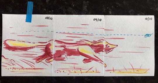 Inktober days 8 through 10 - transcending paper special.