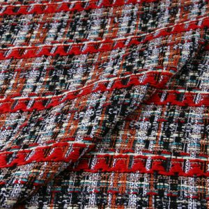 Haute Couture Fabric Red Tweed Wool Fabric/Gold Thread Tweed Alta Moda/Fashion week fabric/Various Colours Available Check Listing please